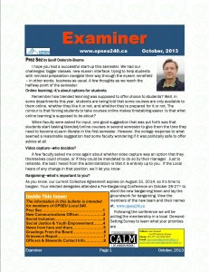 October 2013 Examiner